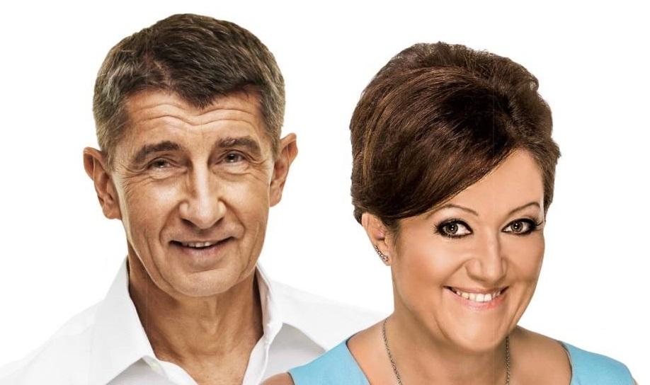 Radmila Kleslová a Andrej Babiš. Foto: hnutí ANO