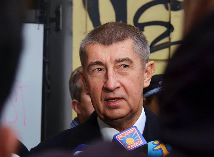 Šéf hnutí ANO Andrej Babiš na Národní třídě 17. listopadu 2015. Foto: Ano