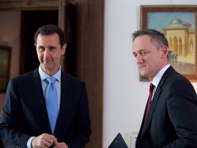 Syrský prezident zblízka: Michal Kubal během exkluzivního rozhovoru ČT. Foto:  ČT