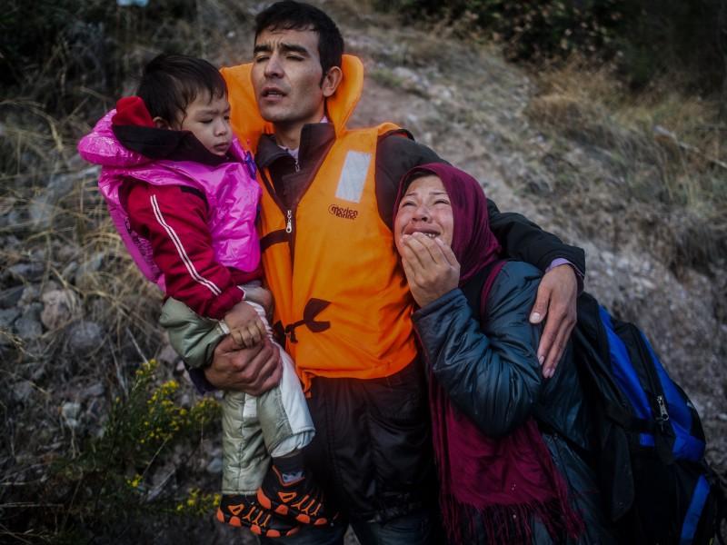 Lesbos 2015. Foto: Filip Singer, EPA
