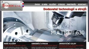 Pohled na webové stránky společnosti. Repro: Neo