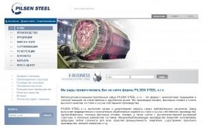 Pohled na webové stránky Pilsen Steel. Jsou v českém, ruském a anglickém jazyce. Repro Neo.