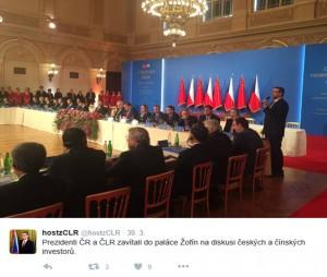 Na 30 dohod bylo podepsáno 30. března 2016 v Praze na Žofíně během setkání tuzemské podnikatelské smetánky s prezidenty Milošem Zemanem a Si Ťin-pchingem, pochlubil se mluvčí Hradu na twitteru.