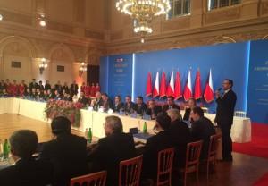 Setkání s čínským prezidentem na pražském Žofíně