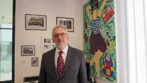 Libor Grubhoffer ještě ve své rektorské kanceláři. Foto: David Binar, Neo