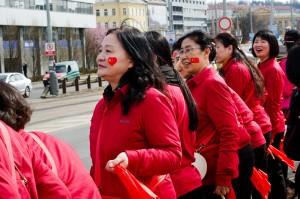Čínské vítání čínského prezidenta v Praze. sarkao / Shutterstock.com