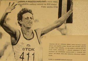 Na nástěnce visí archivní snímek z rekordního července roku 1983. Foto: Simona Holecová, Neo