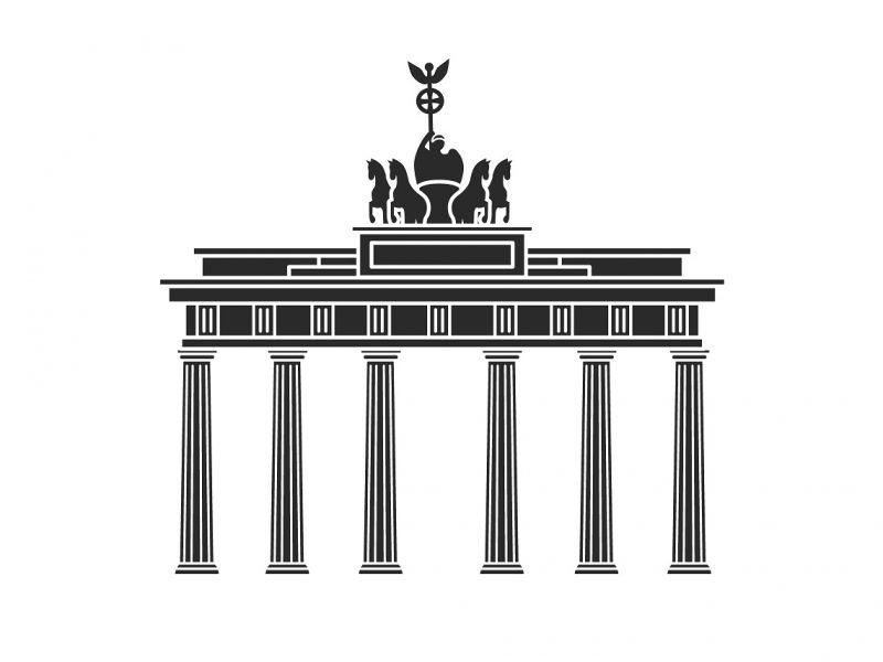 Nemecko_brandeburg_tor_brana_berlin_silueta