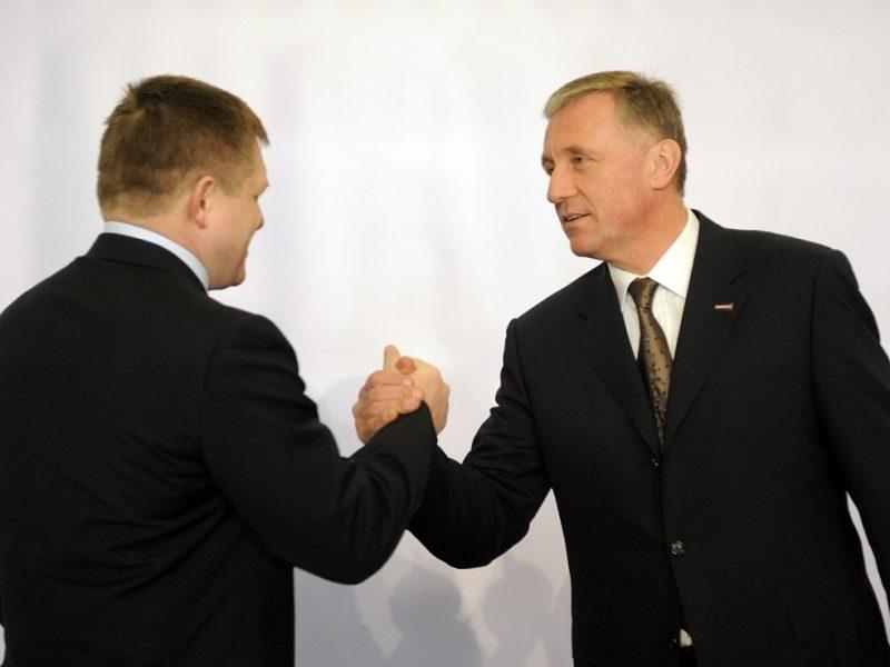 Mirek Topolánek a jeho přítel Robert Fico na summitu EU-USA v dubnu 2009. Foto: eu2009.cz, Vladimir Weiss