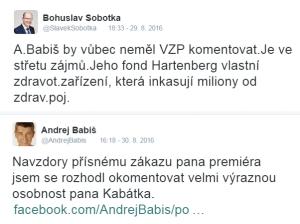 sobotka_babis_VZP_zdravotnictvi_twitter