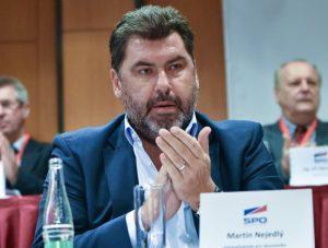 Martin Nejedlý na programové konferenci Strany práv občanů v roce 2015. Foto: se souhlasem SPO