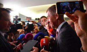 Andrej Babiš vítězný. Foto: hnutí ANO