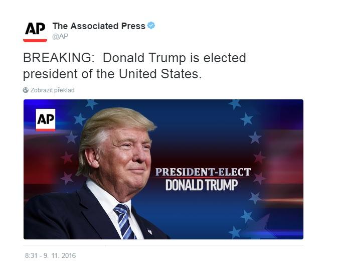 Je krátce po deváté a agentura AP posílá do světa bleskovou zprávu, že je dopočítáno.