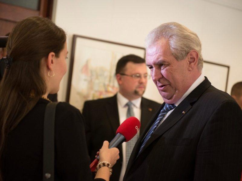 Jindřich Forejt jako Zemanův stín. Foto: hrad.cz